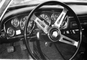 Bild foto glas 1300 gt 1965 lenkrad und amaturenbrett des