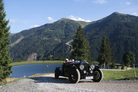 Bild (1/1): Bentley Old Number One (1931) - an der Saalbach Classic 2013 (© Daniel Reinhard, 2013)