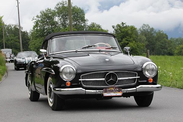 mercedes benz 190 sl der elegante touren sportwagen f r den boulevard fahrzeugberichte. Black Bedroom Furniture Sets. Home Design Ideas