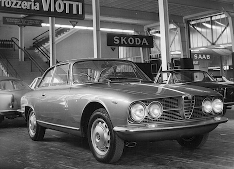 Alfa Romeo Sprint 2000 am Genfer Salon 1961