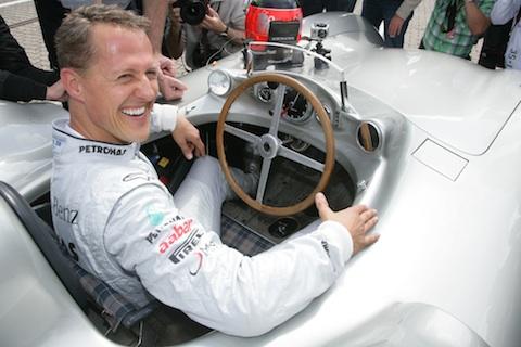 Mercedes benz w196 von 1954 mit michael schumacher und for Schumacher mercedes benz az