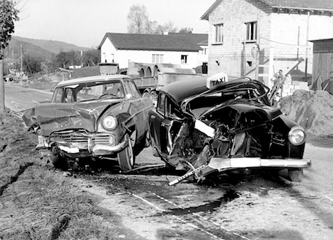 Fall As Car Crash
