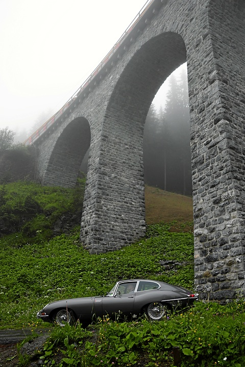Jaguar E Type am British Classic Car Meeting St. Moritz 2012