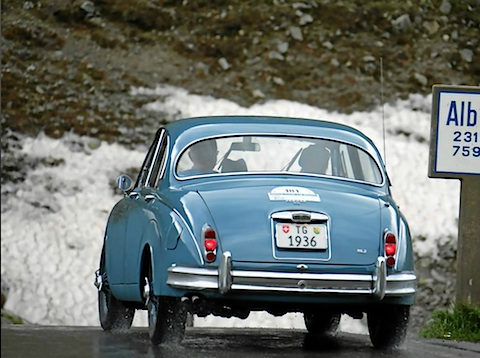 Jaguar Mk 2 am British Car Meeting St. Moritz 2012