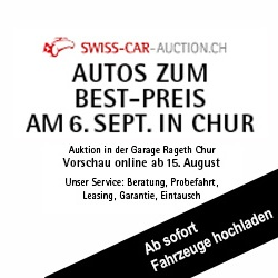 Swiss-Car-Auction: Versteigerung am 6. September 2014