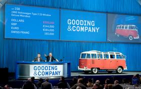 VW Bus Typ 2 Samba (1960) - als Lot 158 von Gooding anlässlich der Scottsdale 2018 Auktion für USD 200'000 zugeschlagen