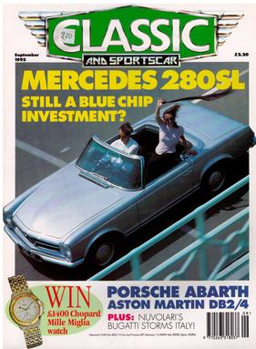 Titelbild zu «Classic & Sports Car / Nr. 9 (1992)»