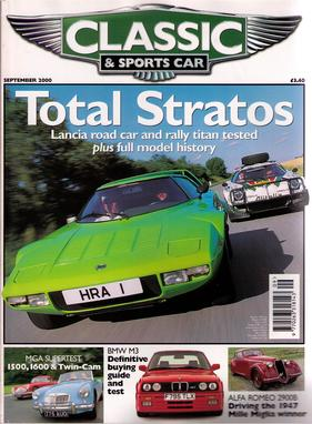 Titelbild zu «Classic & Sports Car / Nr. 9 (2000)»