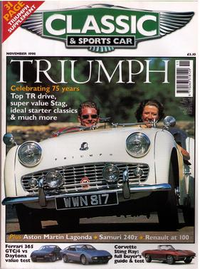 Titelbild zu «Classic & Sports Car / Nr. 11 (1998)»
