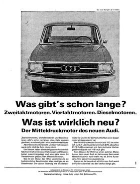 bild foto audi f103 1965 werbung für den mitteldruckmotor