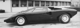 Lamborghini Countach LP 400 (1975) - Seitenprofil, links (1975)
