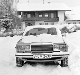 Mercedes Benz 280 E (1976) - im Winter (1976)