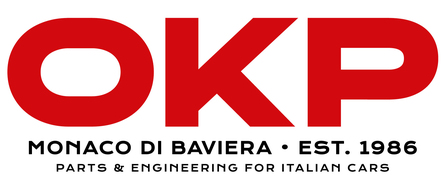 Logo: OKP Parts and Engineering for Italian Cars
