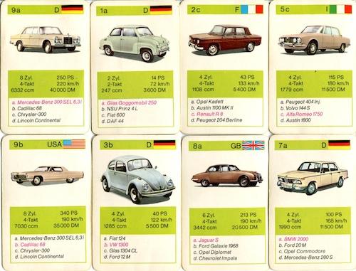 Das Auto-Quartett als spielerischer Zugang zur Autotechnik (Oldtimer ...