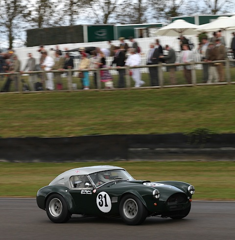 Die AC Cobra, mit der Martin Brundle in Goodwood 2012 im Training antrat