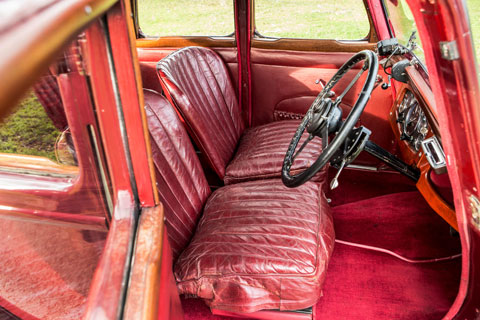 Interieur des Riley 9 Monaco Salloon 1936 (© Bonhams)