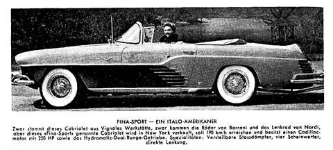 Fina Sport Convertible in der AR 1955