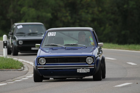 2 x VW Golf Mk1 am Bergrennen Steckborn Memorial 2018