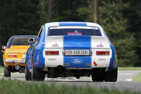 2 x Ford Capri am Bergrennen Steckborn Memorial 2018