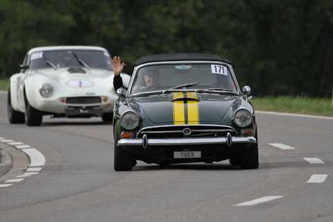 Sunbeam Tiger und TVR Griffith am Bergrennen Stteckborn Memorial 2018