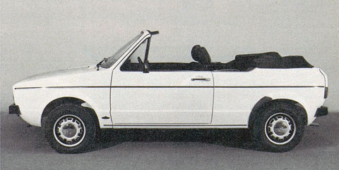 VW Golf Cabriolet ohne Bügel 1977 in AMS (© AMS)