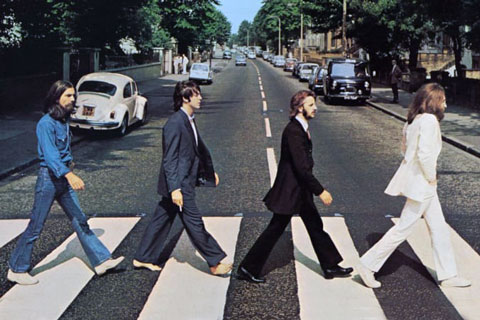 Cover der Beatles-Platte Abbey Road (Ausschnitt)