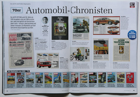 Heftrückblick über 50 Jahre Auto Zeitung