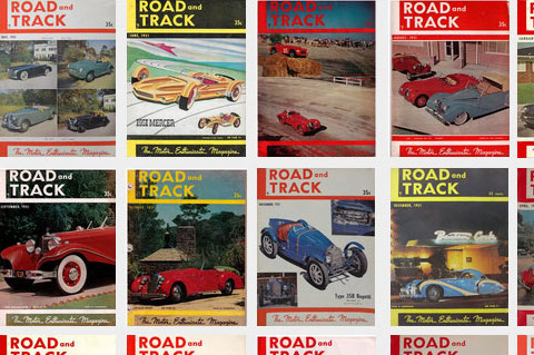 Road & Track Covers von 1951