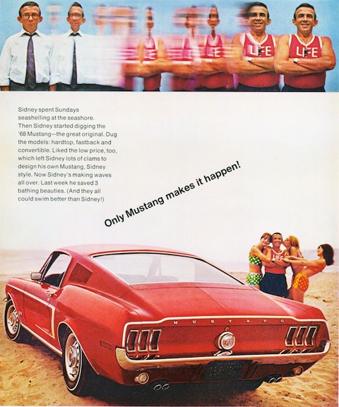 Ford Mustang Werbung aus dem Jahr 1968 (© Ford Motor Company)