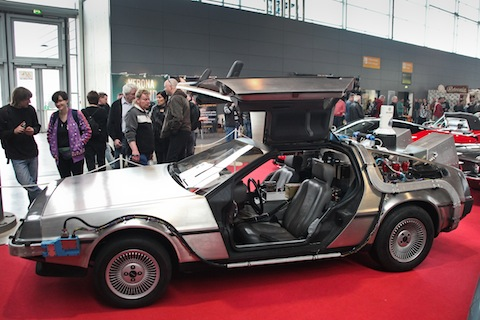 DeLorean DMC-12 aus Back to the Future an der Retro Classics 2015