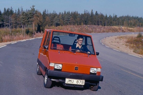 Volvo Electric Vehicle 1976 unterwegs (© Werk / Volvo)
