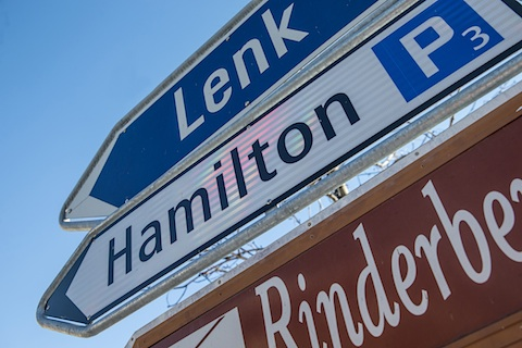 Hamilton Parking in Zweisimmen (© Daniel Reinhard)