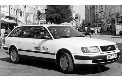 Audi Duo - fast 30 Jahre vier Ringe mit Hybrid (Oldtimer ...