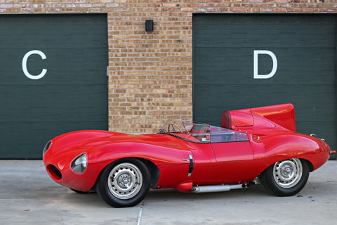 Jaguar D-Type XKD 518 (© Mathieu Heurtault - Courtesy Gooding & Co)