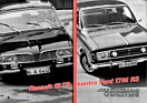 Renault 16 TS kontra Ford 17 M RS - Hobby 10/1968 - Seiten 76 und 77 (1968)