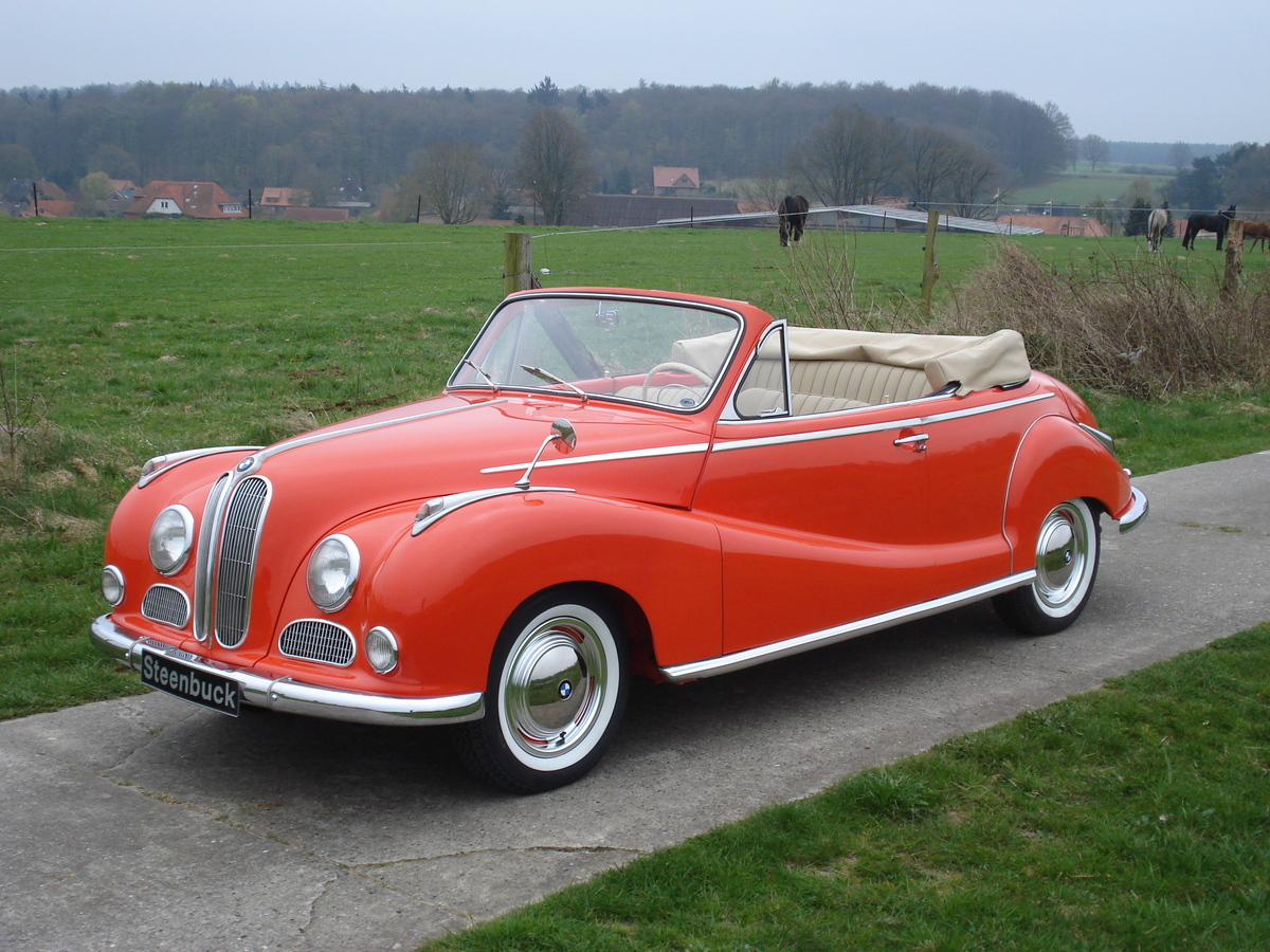 bmw 501 cabrio baur original cabrio 1955 oldtimer. Black Bedroom Furniture Sets. Home Design Ideas