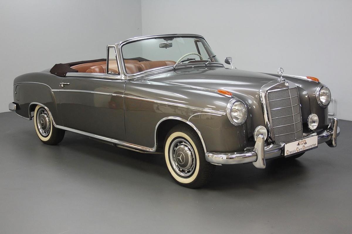 mercedes benz 220 s ponton cabriolet 1957 oldtimer. Black Bedroom Furniture Sets. Home Design Ideas