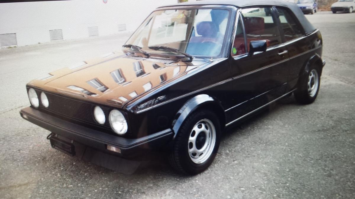 vw golf cabrio 1984 oldtimer kaufen zwischengas. Black Bedroom Furniture Sets. Home Design Ideas